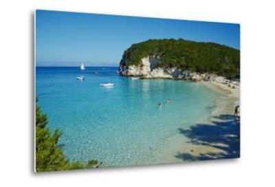 Vrika Beach, Antipaxos, Antipaxi, Ionian Islands, Greek Islands, Greece, Europe-Tuul-Metal Print