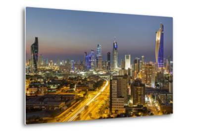 Elevated View of the Modern City Skyline and Central Business District-Gavin-Metal Print