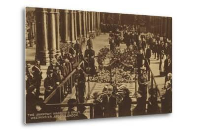 The Unknown Warrior's Grave, Westminster Abbey, London--Metal Print