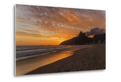 Ipanema Beach at Sunset, Rio De Janeiro, Brazil, South America-Angelo-Metal Print