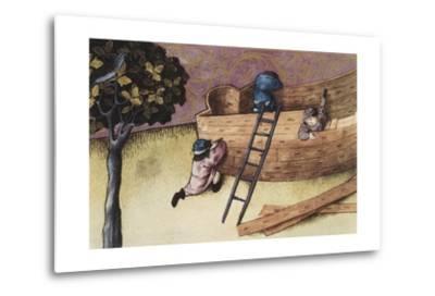 Illustration About the Teak Tree--Metal Print