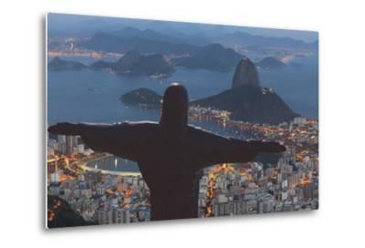 Statue of Christ the Redeemer, Corcovado, Rio De Janeiro, Brazil, South America-Angelo-Metal Print