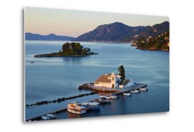 Vlacherna Monastery, Kanoni, Corfu, Ionian Islands, Greek Islands, Greece, Europe-Tuul-Metal Print