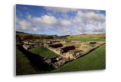 The Fortress of Vindolanda Roman Fort, Hadrian's Wall--Metal Print