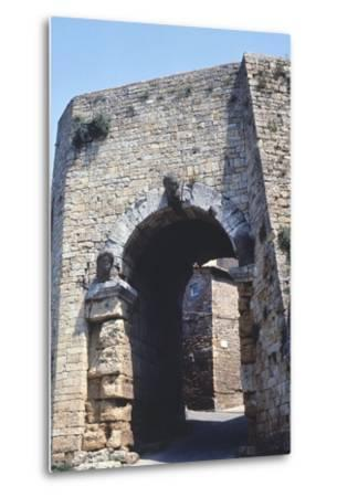 Porta All'Arco or Etruscan Arch--Metal Print