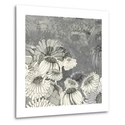 Flowers on Grey II-Ingrid Blixt-Metal Print