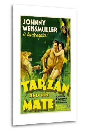 TARZAN AND HIS MATE, Johnny Weissmuller, Maureen O'Sullivan, 1934--Metal Print