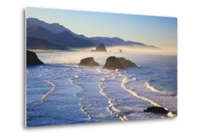 Haystack Rock from Ecola State Park, Oregon Coast-Craig Tuttle-Metal Print