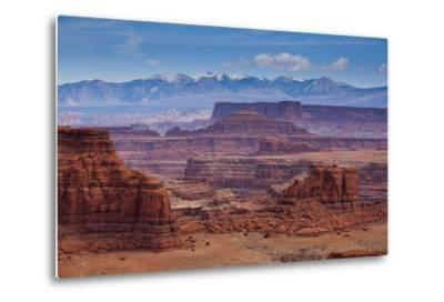 The Rugged Canyons of Canyonlands National Park Seen from the White Rim Trail Near Moab, Utah-Sergio Ballivian-Metal Print