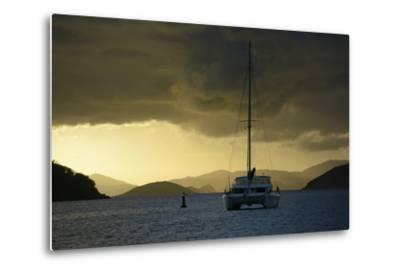 Caribbean, British Virgin Islands, Tortola. Catamaran at Soper's Hole-Kevin Oke-Metal Print