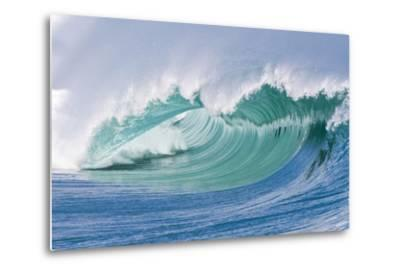 Breaking Wave in Hawaii-Ron Dahlquist-Metal Print