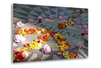 John Lennon Tribute in Strawberry Fields in Central Park, New York--Metal Print