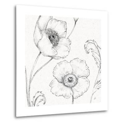 Blossom Sketches I-Daphne Brissonnet-Metal Print