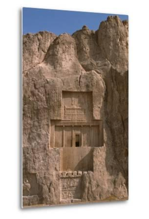 Tomb of Darius I the Great and Equestrian Victory of Bahram II--Metal Print