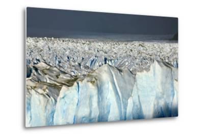 Detail of Glaciar Perito Moreno with Blue Ice Caverns--Metal Print