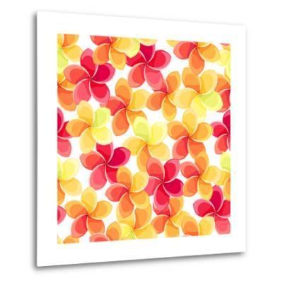 Background with Colorful Flowers-Naddiya-Metal Print