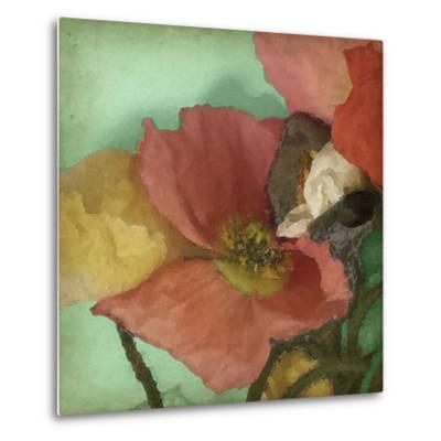 Aquatic Poppies I-Jennifer Goldberger-Metal Print