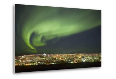 Aurora Borealis over Reykjavik-Arctic-Images-Metal Print