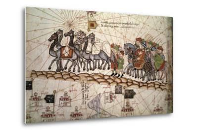 The Silk Road Crossed by Marco Polo--Metal Print