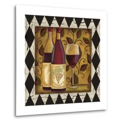 Harlequin and Wine I-Carolee Vitaletti-Metal Print