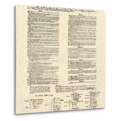 Constitution Document--Metal Print