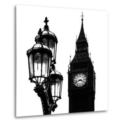 Big Ben and the Royal Lamppost UK - City of London - UK - England - United Kingdom - Europe-Philippe Hugonnard-Metal Print