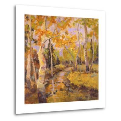 Four Seasons Aspens III-Nanette Oleson-Metal Print