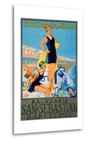 Balneario San Sebastian Barcelona Poster--Metal Print