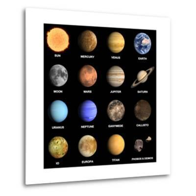Planets and Some Moons of the Solar System-Tristan3D-Metal Print