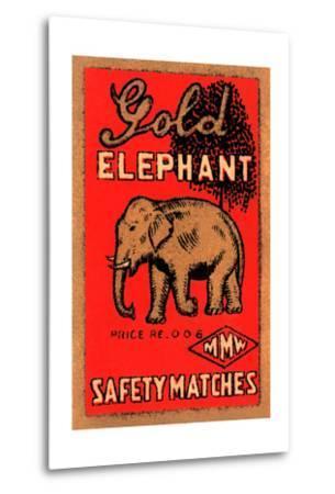 Golden Elephant--Metal Print