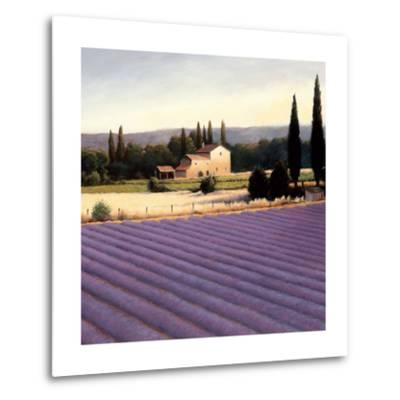 Lavender Fields II Crop-James Wiens-Metal Print