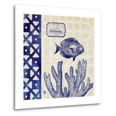 Sea Shore Square I-Sarah Mousseau-Metal Print