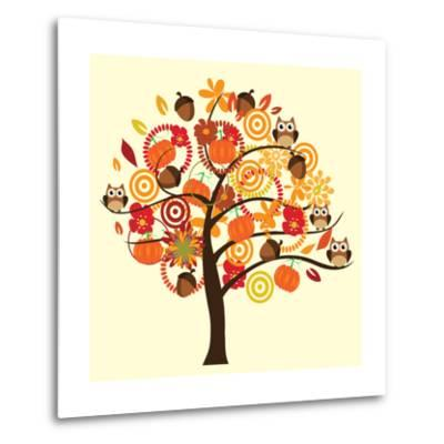 Fall Tree-relato-Metal Print