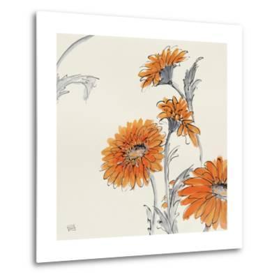 Orange Gerbera I-Chris Paschke-Metal Print
