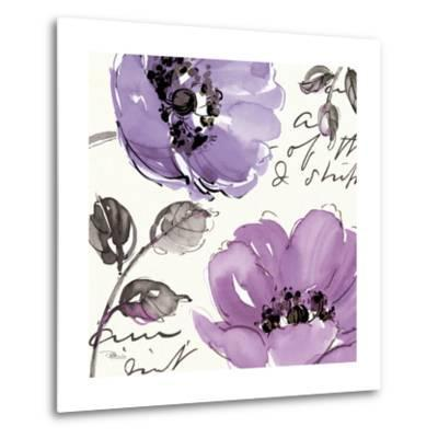 Floral Waltz Plum II-Jess Aiken-Metal Print