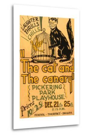 Cat and the Canary--Metal Print