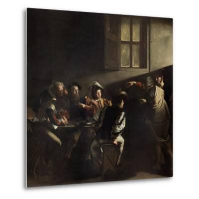 The Calling of St. Matthew by Caravaggio--Metal Print