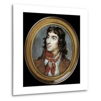 Portrait of Camille Desmoulins by Francois Dumont--Metal Print