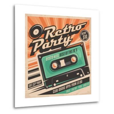 Retro Party Poster Design-Lukeruk-Metal Print