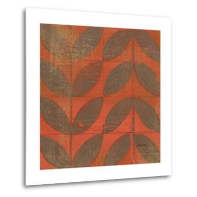 Orange Gold Leaves-Kathrine Lovell-Metal Print
