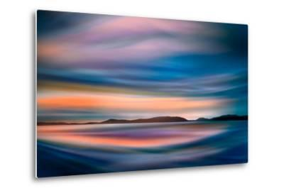 Coastlines (In Blue)-Ursula Abresch-Metal Print
