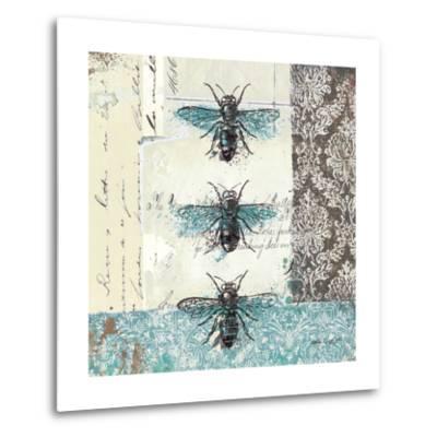Bees n Butterflies No. I-Katie Pertiet-Metal Print