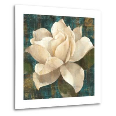 Gardenia Blossom Turquoise-Albena Hristova-Metal Print