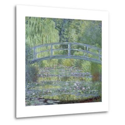 The Waterlily Pond: Green Harmony by Claude Monet--Metal Print