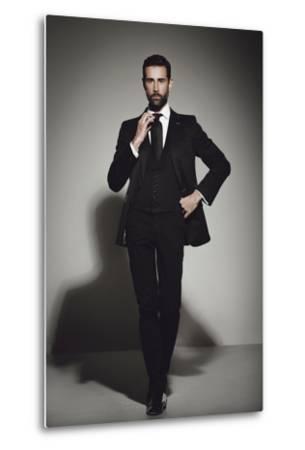 Male Model Posing-Luis Beltran-Metal Print