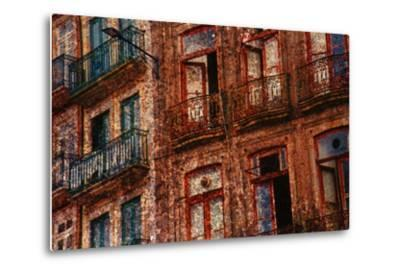 Old Building in Porto, Portugal--Metal Print