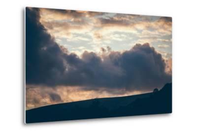 Stormy Sunset-Clive Nolan-Metal Print
