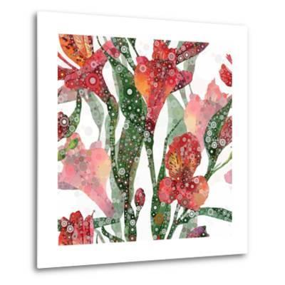 Abstract Floral Pattern-mika48-Metal Print