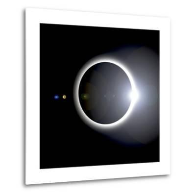 An Artist's Depiction of a Solar Eclipse--Metal Print