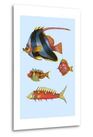 Rarest Curiosities of the Fish of the Indies-Louis Renard-Metal Print